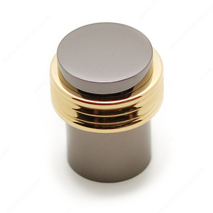 Richelieu BP108513090 Contemporary Metal Knob - 1085 - Brass / Black Nickel