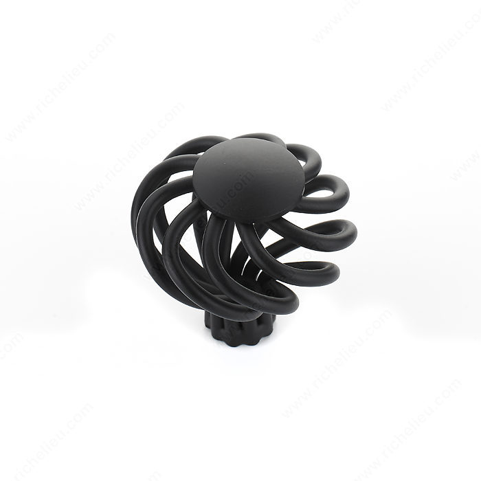 Richelieu Hardware BP10238900 Traditional Metal Knob - 102 in Matte Black