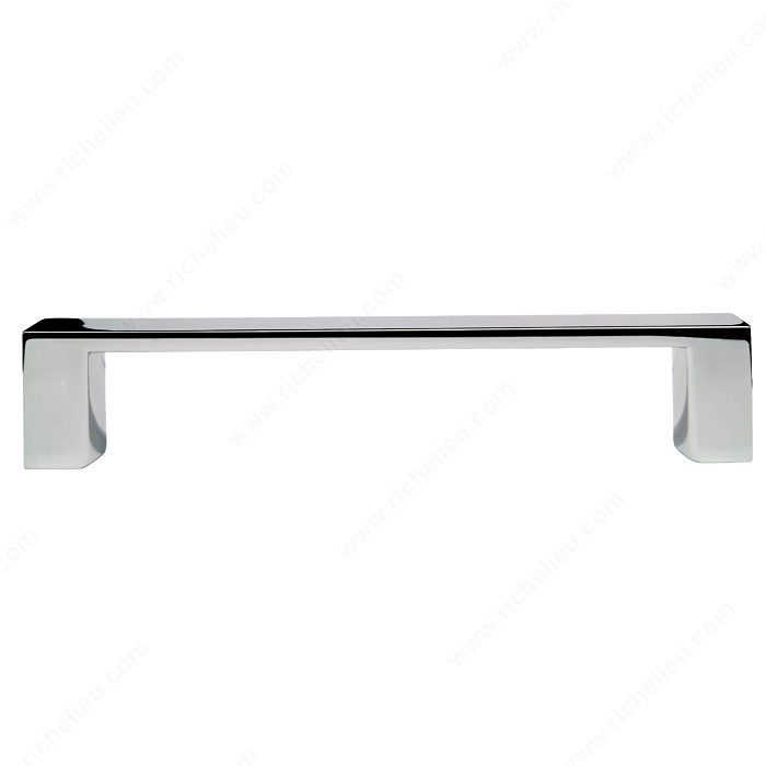 Richelieu Hardware BP1076140 Contemporary Metal Handle Pull - 107 in Chrome
