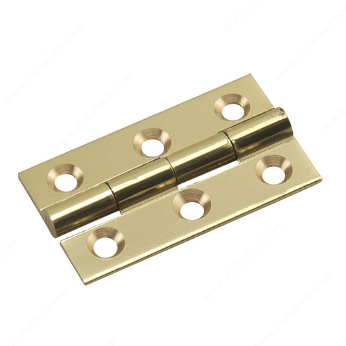 Richelieu Hardware 592Sbr Solid Brass Narrow Butt Hinge 1-1/2 Inch X7/8 Bright Brass Finish. Sold as pair