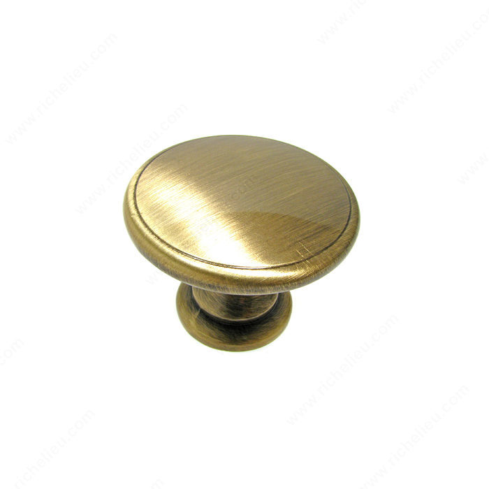Richelieu Hardware BP81224AE Classic Metal Knob - 812 in Antique English