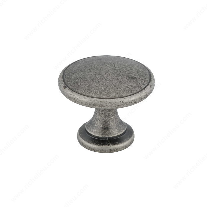 Richelieu Hardware BP81224142 Classic Metal Knob - 812 in Pewter