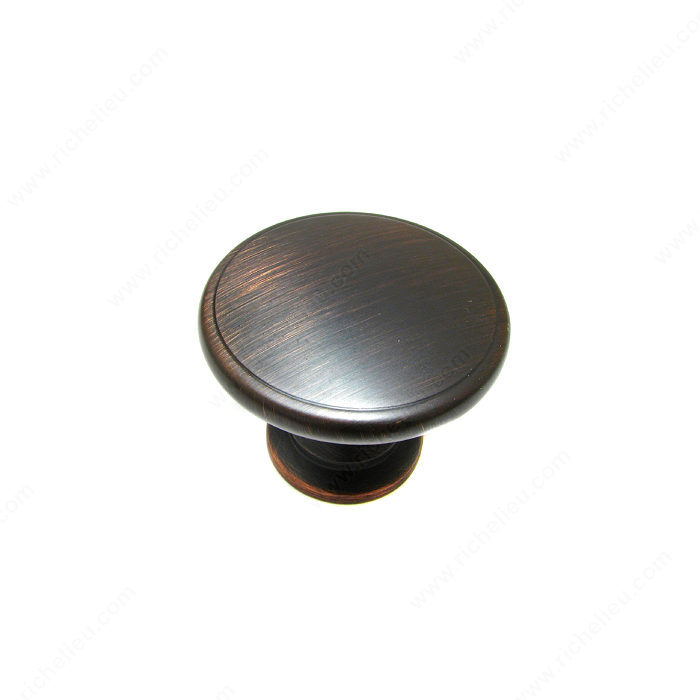 Richelieu Hardware BP81224BORB Classic Metal Knob - 812 in Brushed Oil-Rubbed Bronze