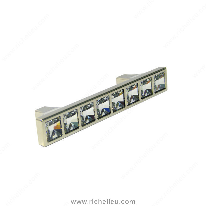 Richelieu Hardware 1526414001 Transitional Pull in Metal and Swarovski Crystal  -  1529  - Chrome; Crystal