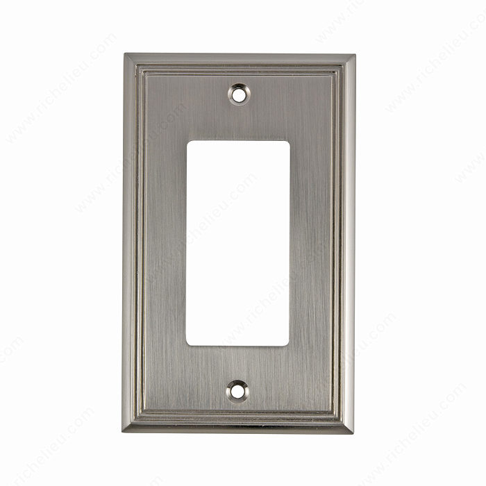 Richelieu Hardware Bp851195 Contemporary Decorative Switch Plate 125X77MM Brushed Nickel Finish