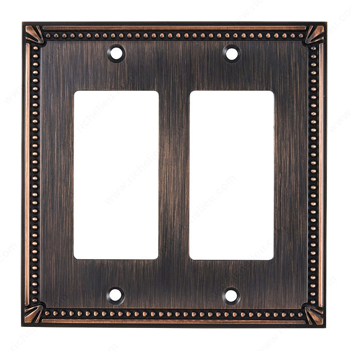 Richelieu Hardware Bp8611Borb Contemporary Decorative Switch Plate 123X123MM Burnish Oil Rubbed Bronze Finish