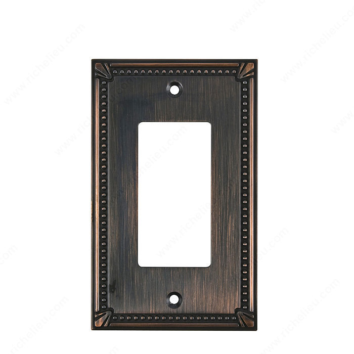 Richelieu Hardware Bp861Borb Contemporary Decorative 1 Switch Plate 125X77MM Burnish Oil Rubbed Bronze Finish