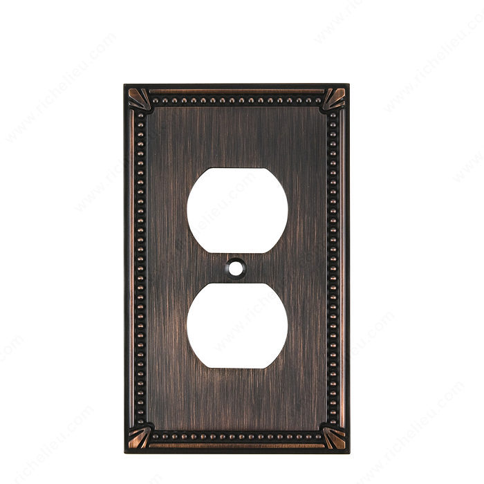 Richelieu Hardware Bp862Borb Contemporary Decorative Electrical Double Switch Plate 125X77MM Burnish Oil Rubbed Bronze Finish