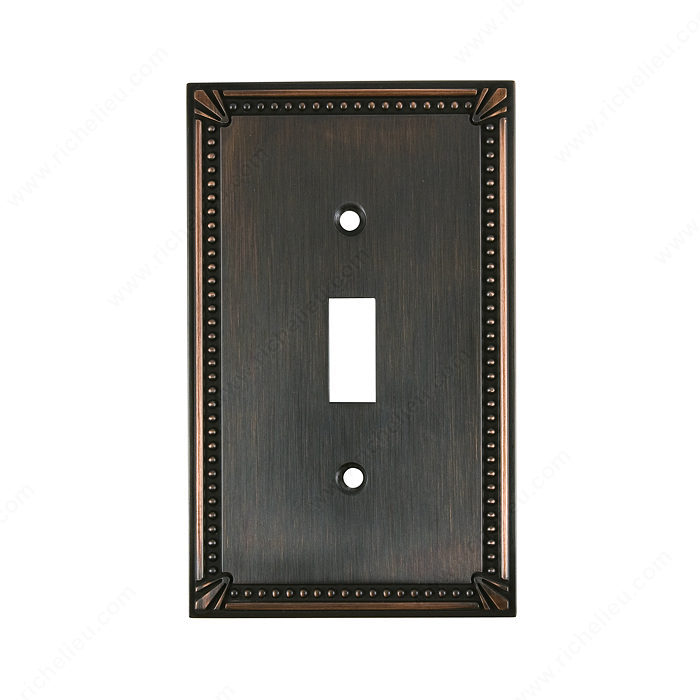 Richelieu Hardware Bp863Borb Switch Plate 1 Toggle 125X77MM Burnish Oil Rubbed Bronze Finish