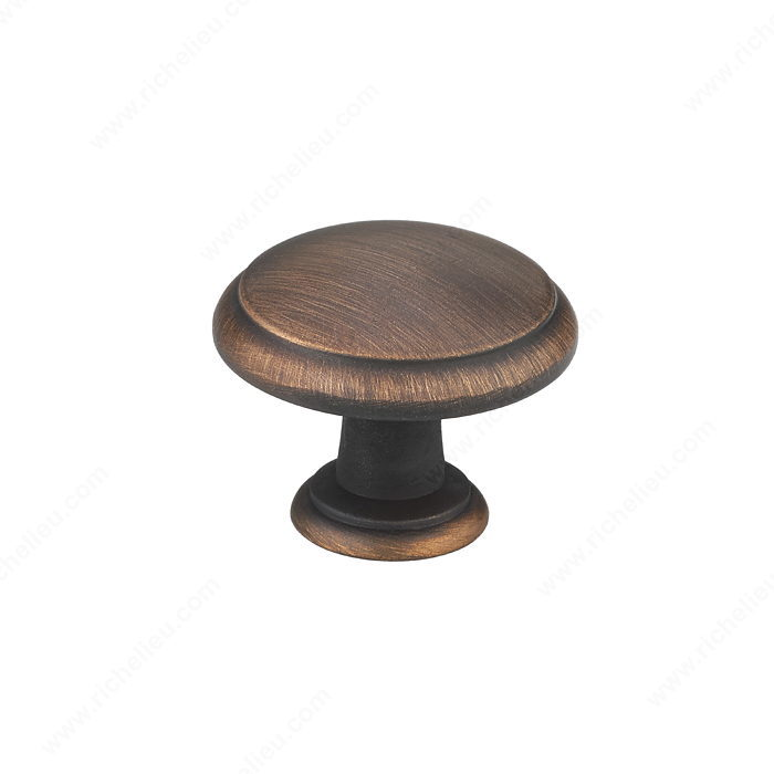 Richelieu BP80930BORB Transitional Metal Knob - 8093 - Brushed Oil-Rubbed Bronze