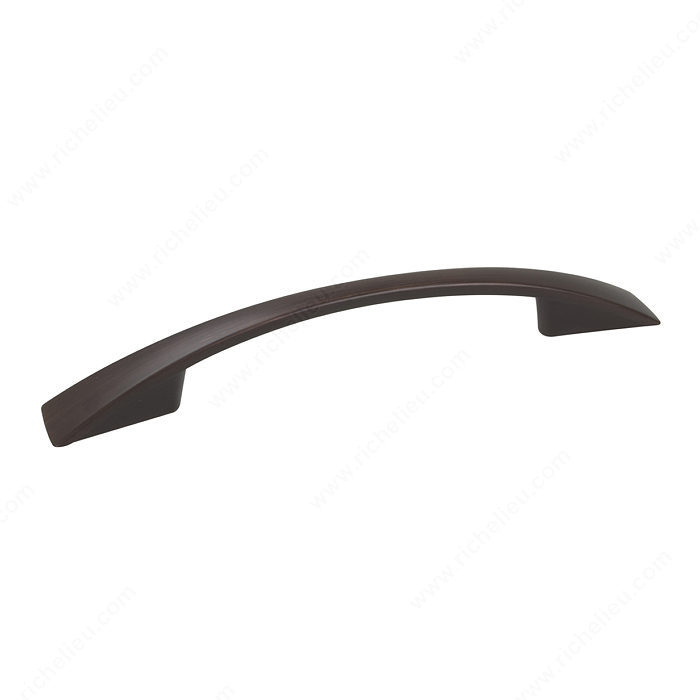 Richelieu Hardware Bp82196Borb Contemporary Metal Arched Bridge Pull 96MM Brushed Oil Rubbed Bronze Finish