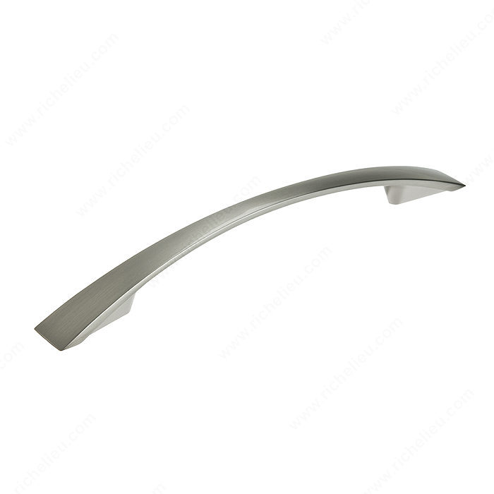 Richelieu Hardware Bp821128195 Contemporary Metal Arched Pull 128MM Brushed Nickel Finish