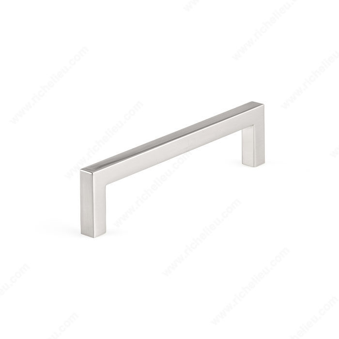 Richelieu Hardware Bp873128195 Contemporary Metal Rectangular Bridge Pull 128MM Brushed Nickel Finish