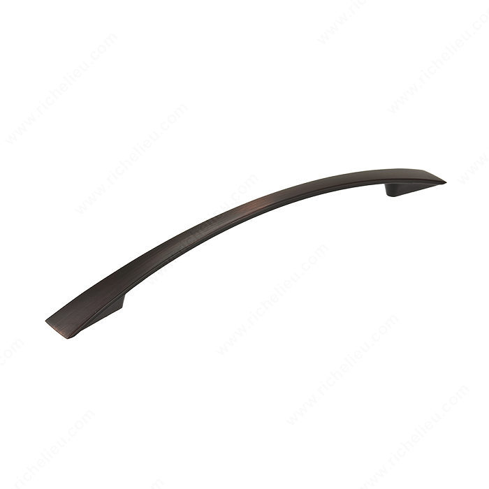 Richelieu Hardware Bp821160Borb Contemporary Metal Arched Pull 160MM Brushed Oil Rubbed Bronze Finish