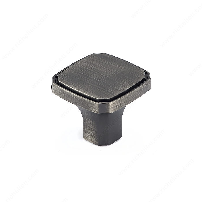 Richelieu Hardware Bp77035143 Transitional Metal Square Knob 35MM Antique Nickel Finish