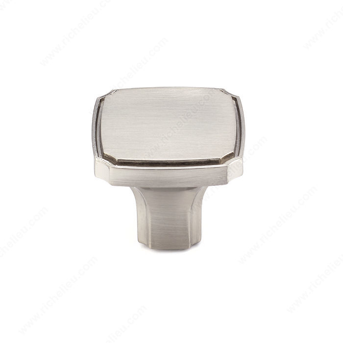 Richelieu Hardware Bp77035195 Transitional Metal Square Knob 35MM Brushed Nickel Finish
