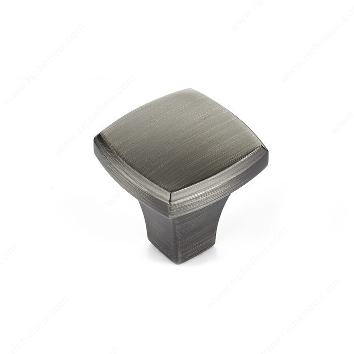Richelieu Hardware Bp78535143 Transitional Metal Square Knob 35MM Antique Nickel Finish