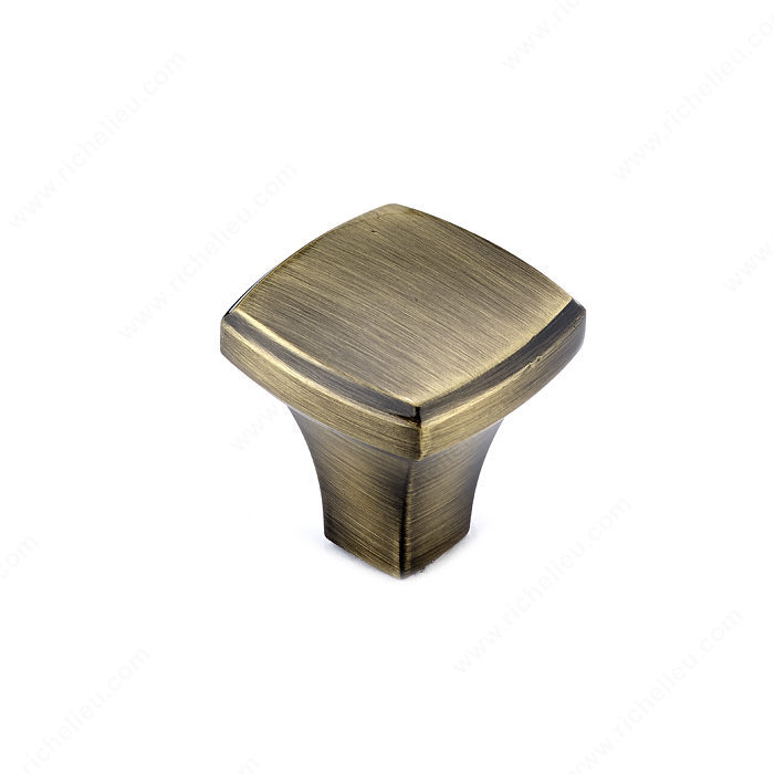 Richelieu Hardware Bp78535Ae Transitional Metal Square Knob 35MM Antique English Finish