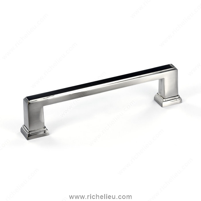 "Richelieu Hardware BP795128195 5"" Transitional Metal Bar Pull in Brushed Nickel Finish"