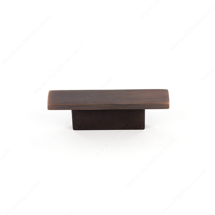 Richelieu Hardware Bp5139632Borb Contemporary Metal Rectangular Knob 32MM Brushed Oil Rubbed Bronze Finish