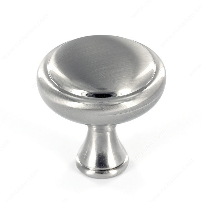 Richelieu Hardware Bp79032195 Classic Metal Round Knob 32MM Brushed Nickel Finish