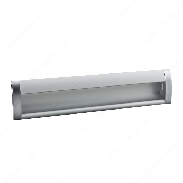 Richelieu Hardware 310075224174 Contemporary Aluminum Recessed Pull 224MM Satin Chrome Finish