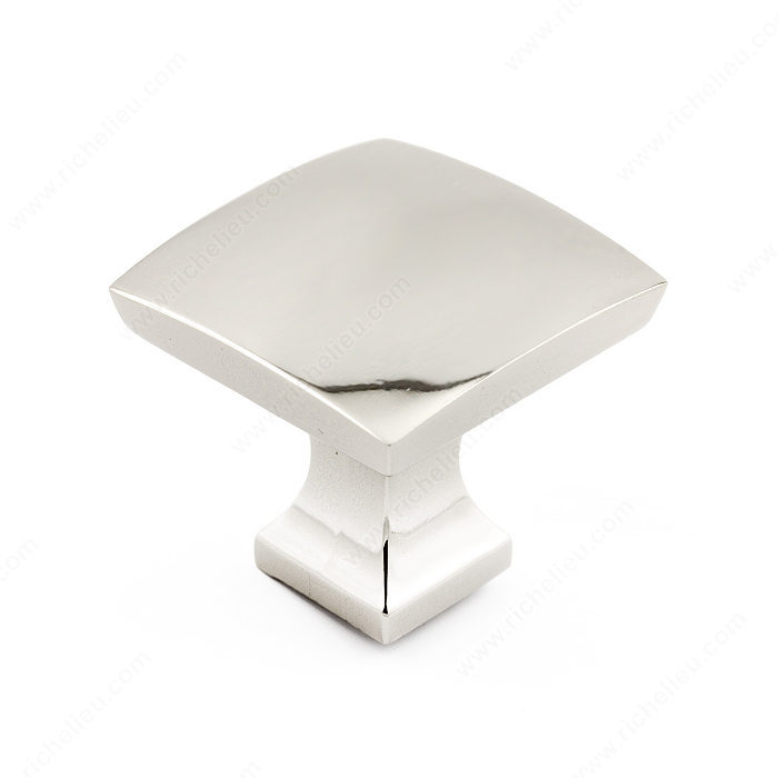 Richelieu Hardware Bp76533180 Transitional Metal Square Knob 33MM Nickel Finish