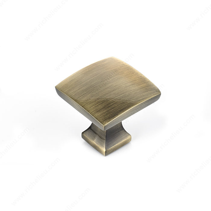 Richelieu Hardware Bp76533Ae Transitional Metal Square Knob 33MM Antique English Finish