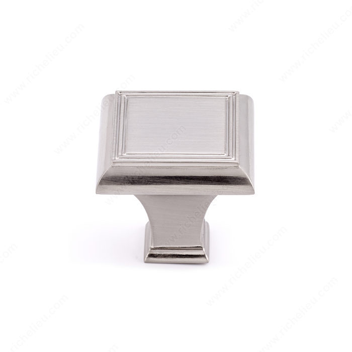 Richelieu Hardware Bp77535195 Classic Metal Square Knob 35MM Brushed Nickel Finish