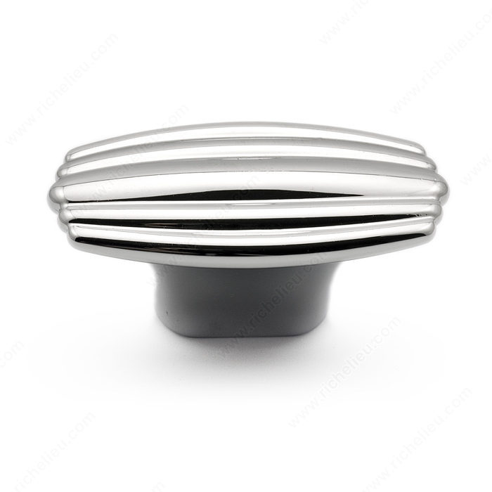 Richelieu Hardware 5083047140 Art Deco Collection Contemporary Metal Decorative T-Knob 47MM Chrome Finish