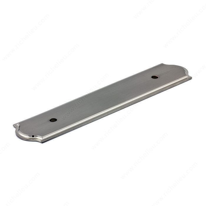 Richelieu Hardware Bp104096195 Classic Metal Pull Backplate 96MM Brushed Nickel Finish