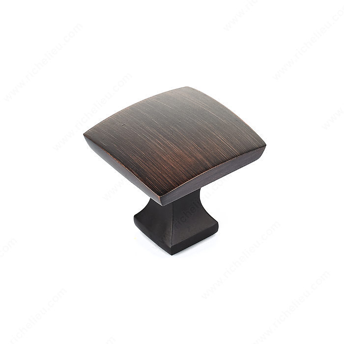 Richelieu Hardware Bp76533Borb Transitional Metal Square Knob 33MM Brushed Oil Rubbed Bronze Finish