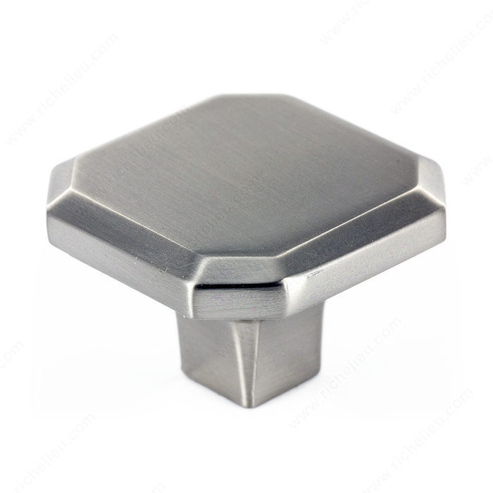 Richelieu Hardware 392134195 Transitional Metal Square Knob 34MM Brushed Nickel Finish