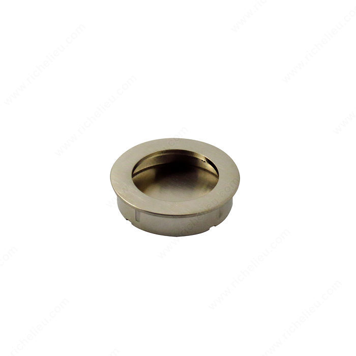 Richelieu Hardware Bp72260195 Contemporary Metal Round Recessed Knob 60MM Brushed Nickel Finish