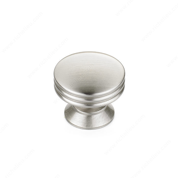 Richelieu Hardware Bp356011195 Contemporary Metal Knob 30MM Brushed Nickel Finish