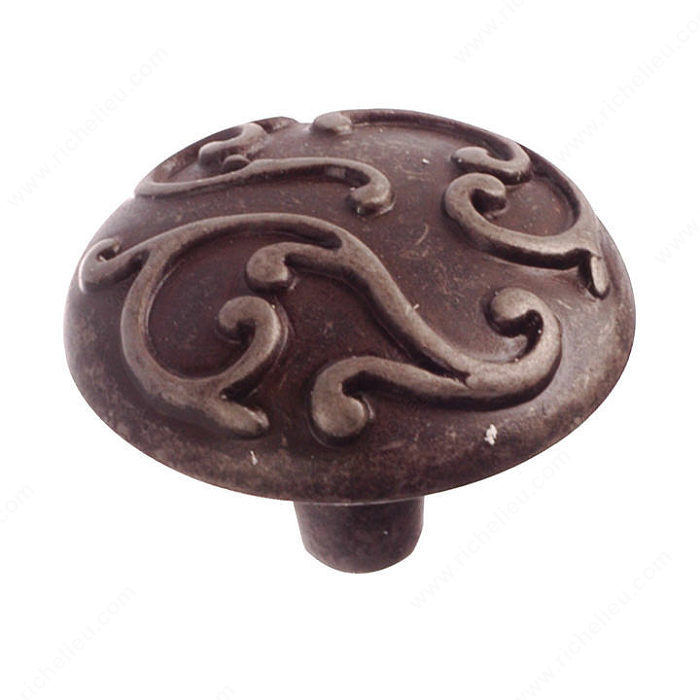 Richelieu Hardware BP391460903 Classic Metal Knob - 146 in Antique Iron
