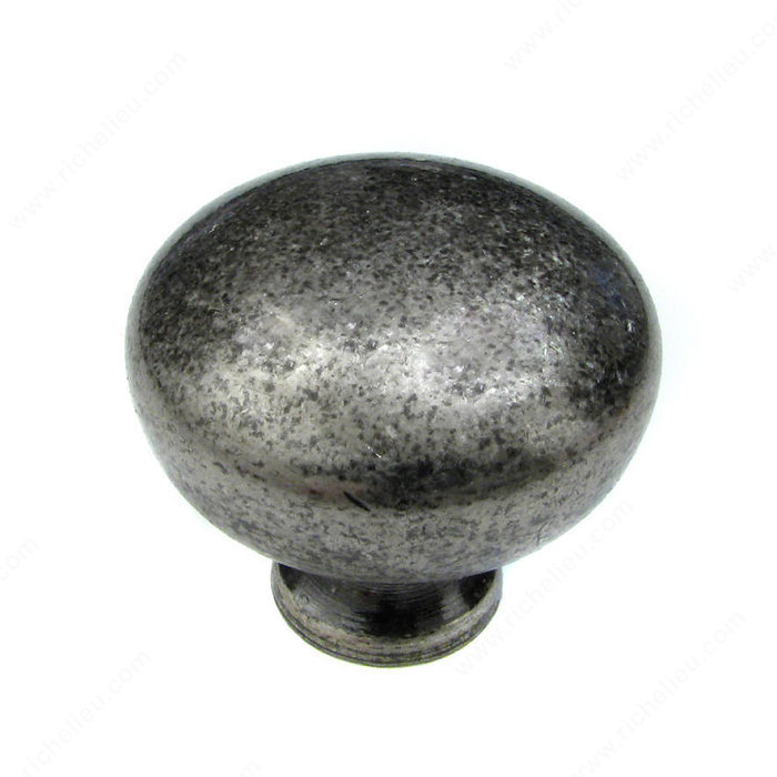 Richelieu Hardware BP7091332142 Classic Metal Knob - 7091 in Pewter
