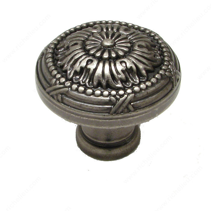 Richelieu Hardware BP82465142 Classic Metal Knob - 824 in Pewter