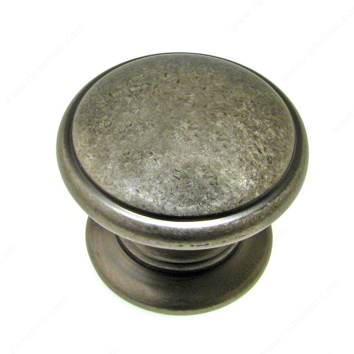 Richelieu Hardware BP80980142 Contemporary Metal Knob - 8098 in Pewter