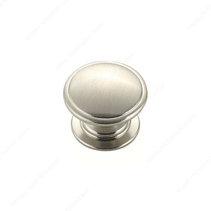 Richelieu Hardware BP80980195 Contemporary Metal Knob - 8098 in Brushed Nickel
