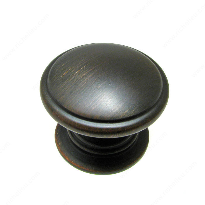 Richelieu Hardware BP80980BORB Contemporary Metal Knob - 8098 in Brushed Oil-Rubbed Bronze