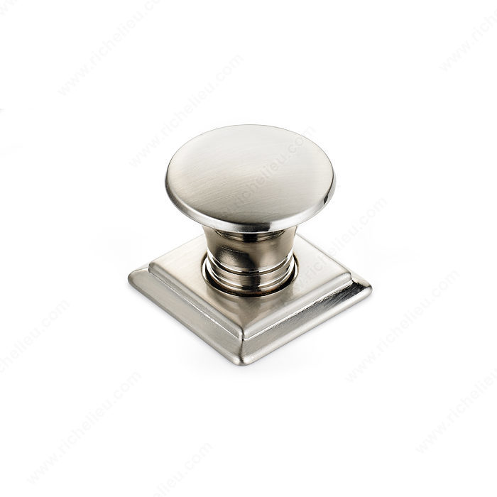 Richelieu Hardware BP46702195 Contemporary Metal Knob - 467 in Brushed Nickel