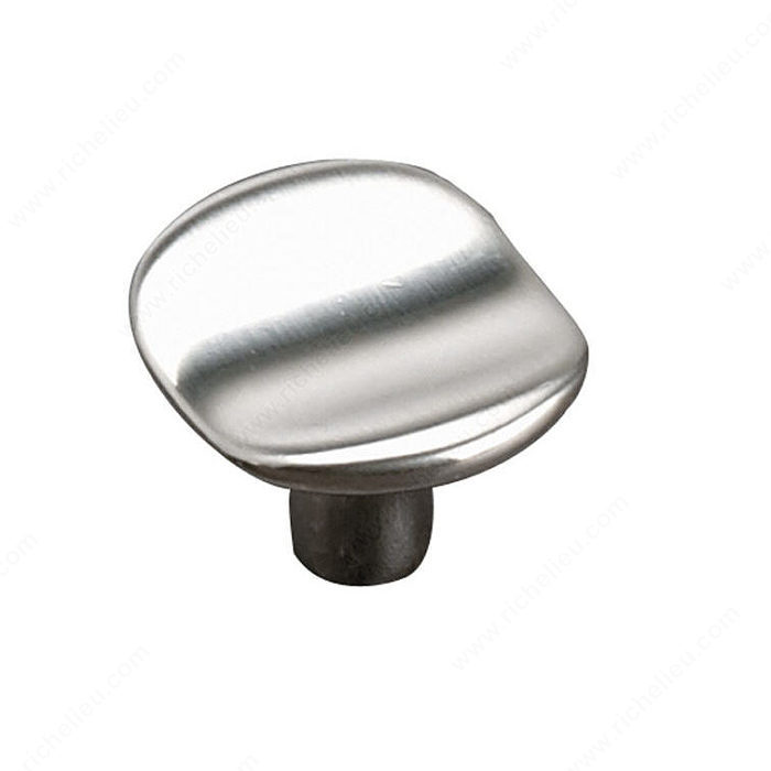 Richelieu Hardware 61632740195 Contemporary Metal Knob - 616 in Brushed Nickel