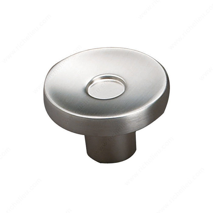 Richelieu Hardware 61643450195 Contemporary Metal Knob - 616 in Brushed Nickel
