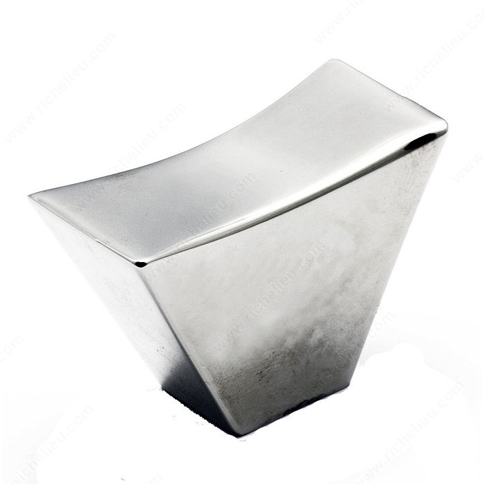 Richelieu Hardware 5187043140 Contemporary Metal Rectangular Knob 43MM Chrome Finish