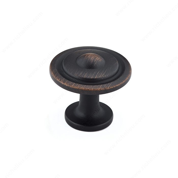 Richelieu Hardware BP2920BORB Classic Metal Knob - 2920 in Brushed Oil-Rubbed Bronze