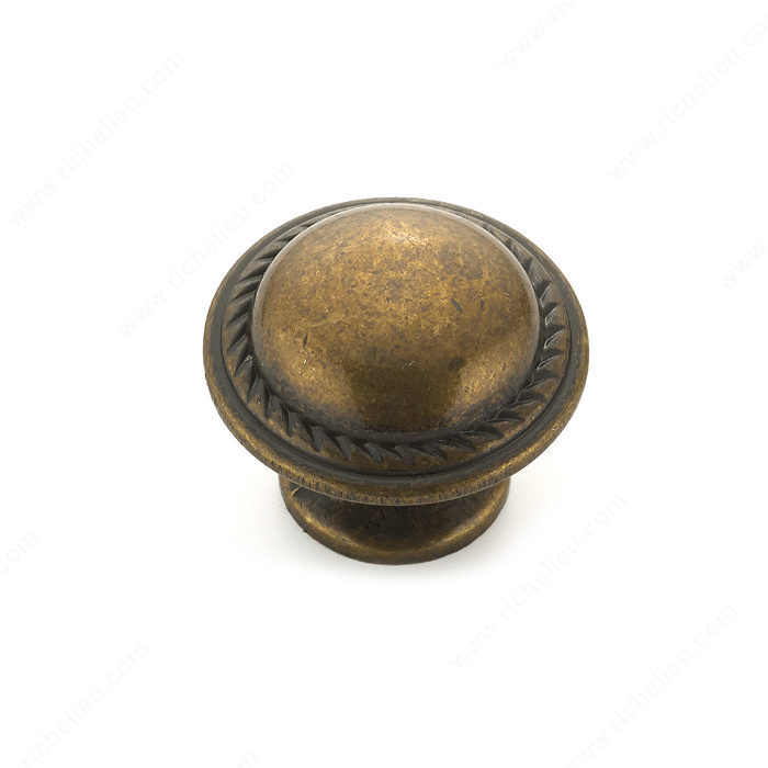 Richelieu Hardware BP92830R3 Classic Metal Knob - 928 in Regency Brass