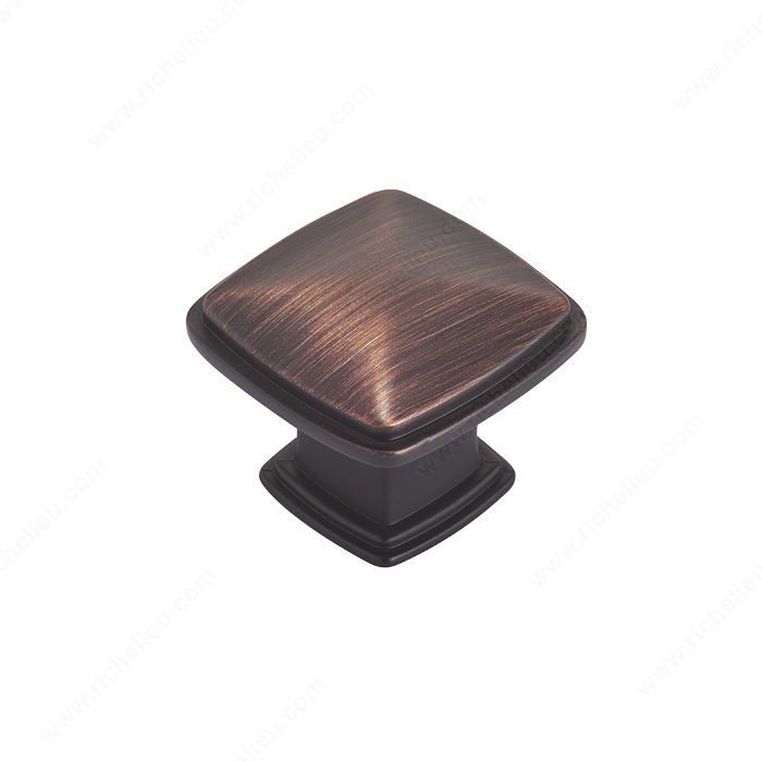 Richelieu DP81091BORB Pack of 10 Transitional Metal Knobs - 8109 - Brushed Oil-Rubbed Bronze