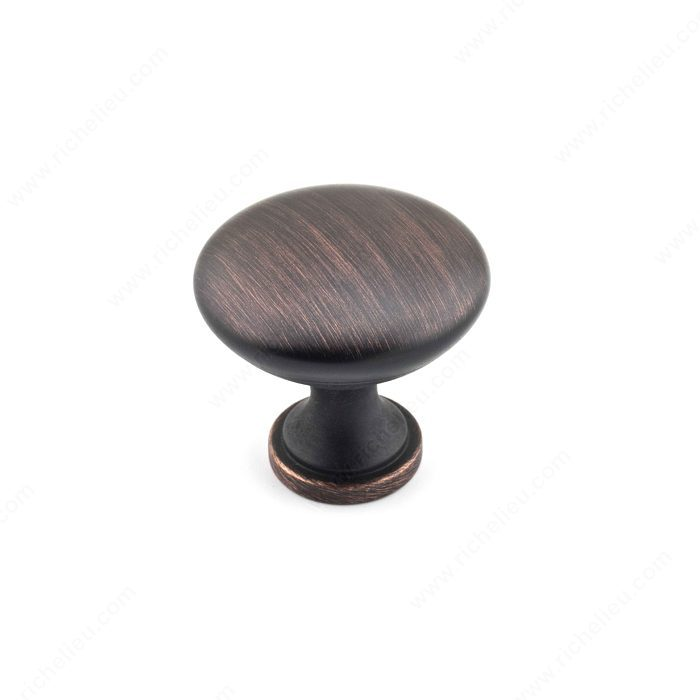 Richelieu BP8041BORB Traditional Metal Knob - 8041 - Brushed Oil-Rubbed Bronze