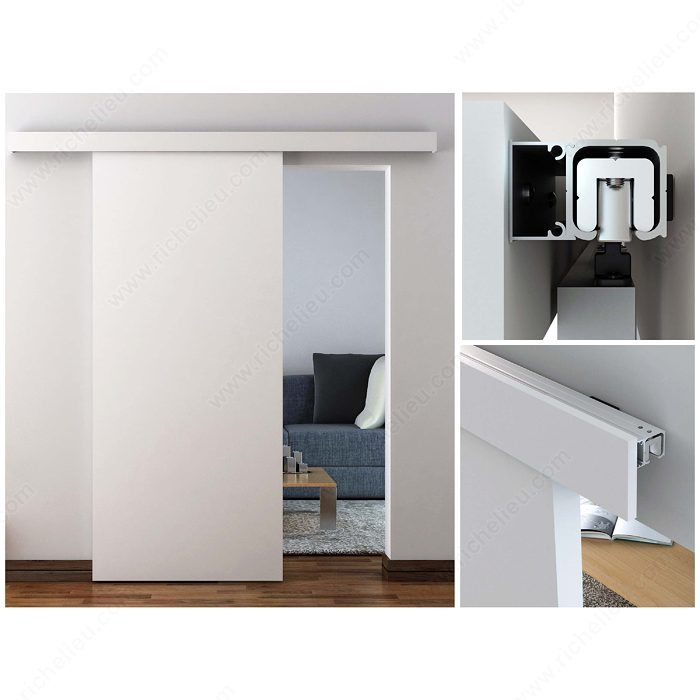 Richelieu 2460502MDFPVC Traditional Sliding Door Set for Suspended Wooden Door (Soft Close Included)